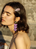 Clemence Earrings Purple