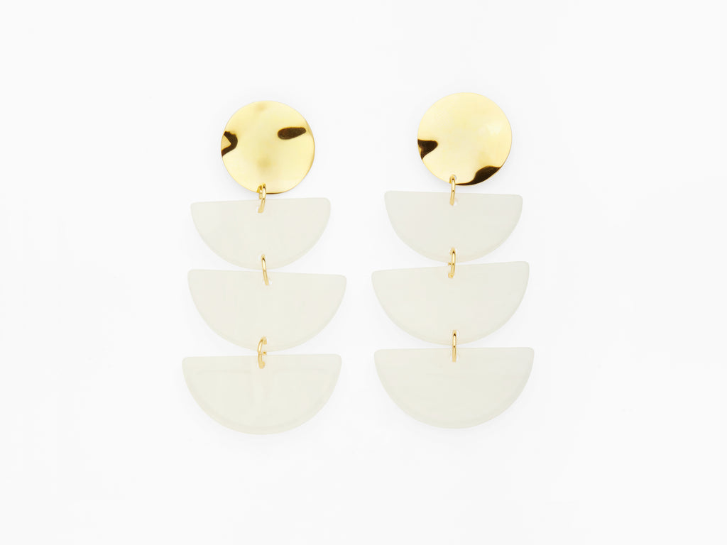 Clemence Earrings White