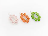 Delilah Clips Orange, Green and Pink