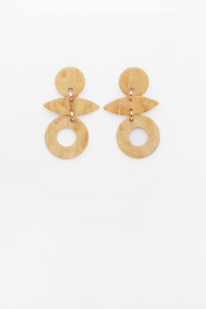 Evie Earrings in Cream