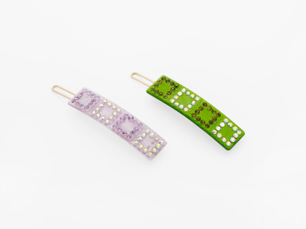 Hera Clips Lilac and Green