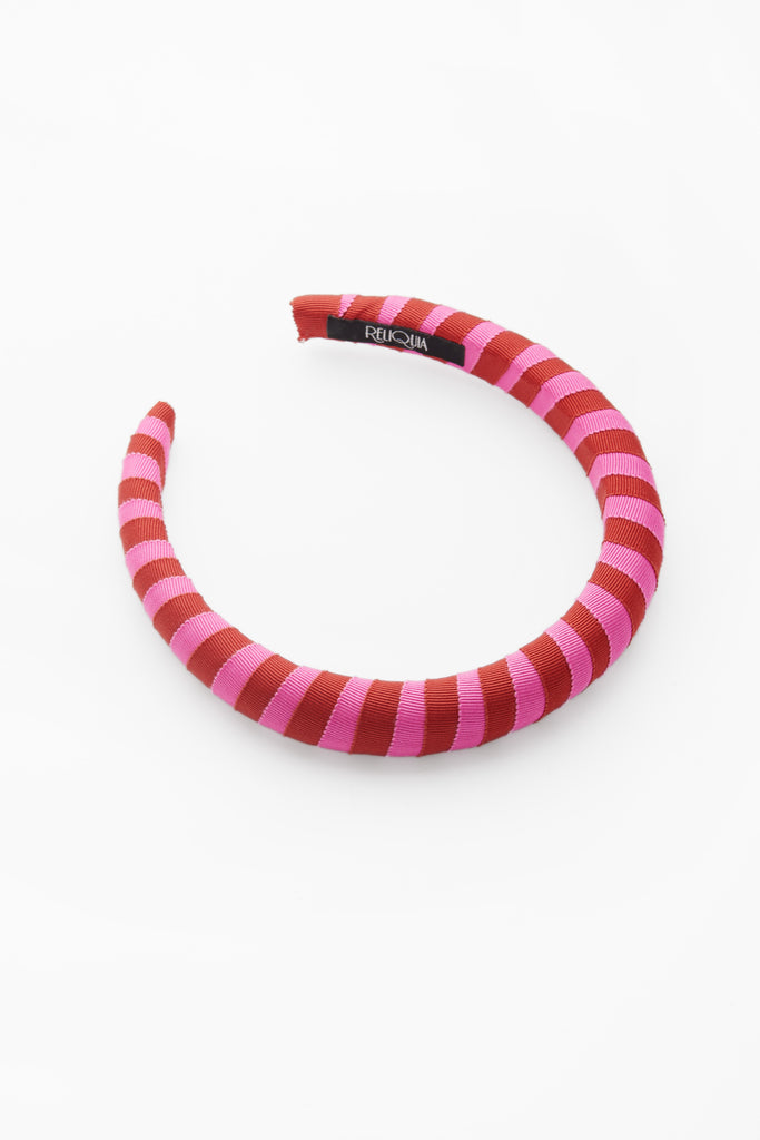 Keira Headband Pink & Red