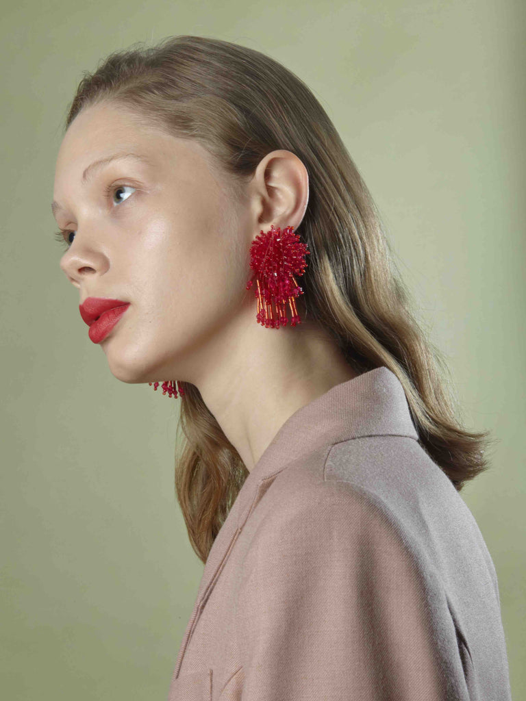 Nicolette Earrings in Red