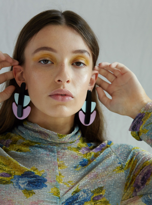 Mathilde Earrings in Purple