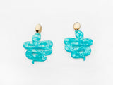 Serpentine Earrings Aqua