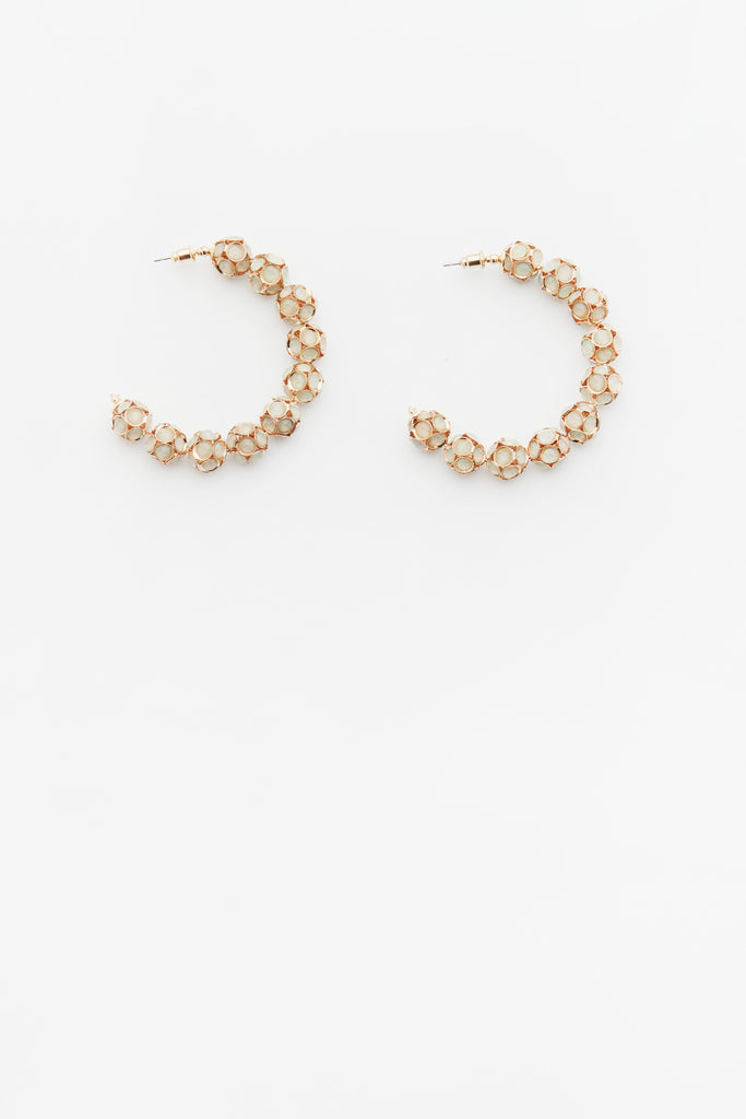 Verity Hoops in Eggshell
