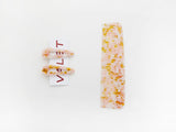 Willa Comb and Kelly Clip Set Peach Marble