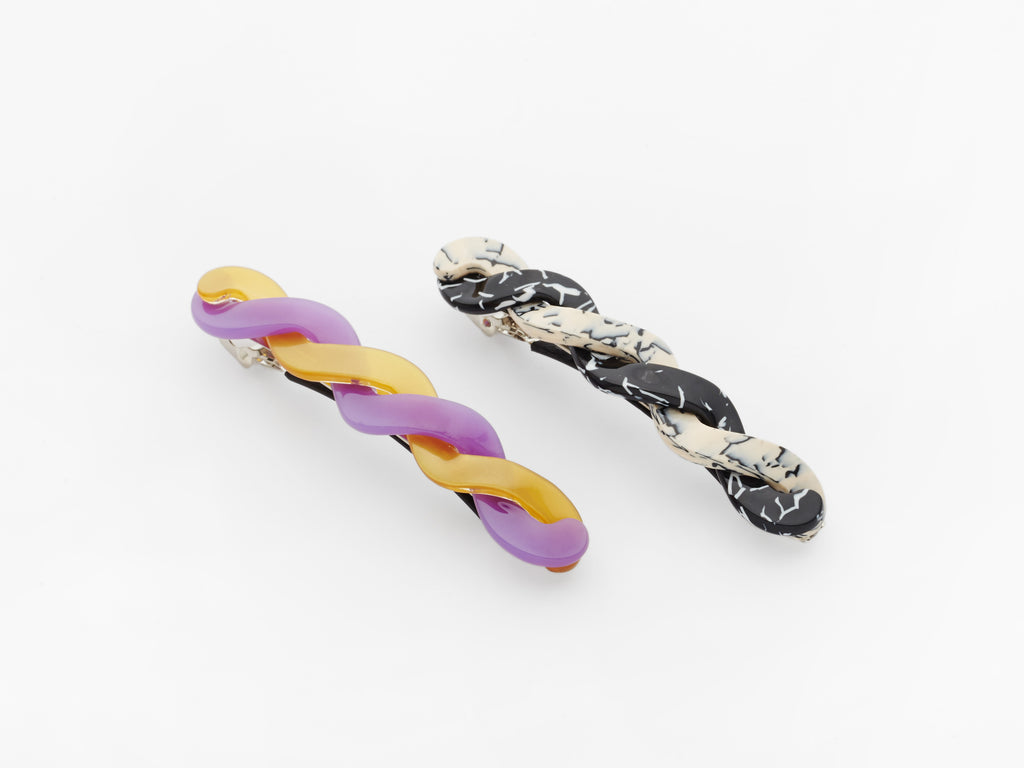 Willow Clips Purple & Black