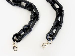 Resin Chain Strap Black