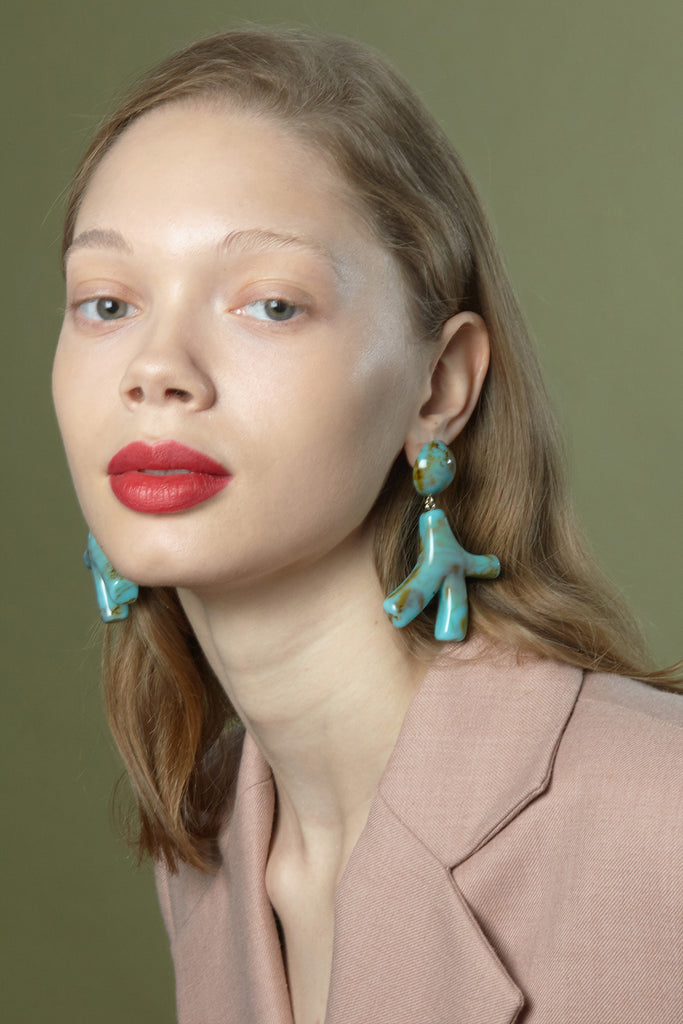 Noemie Earrings in Ivory