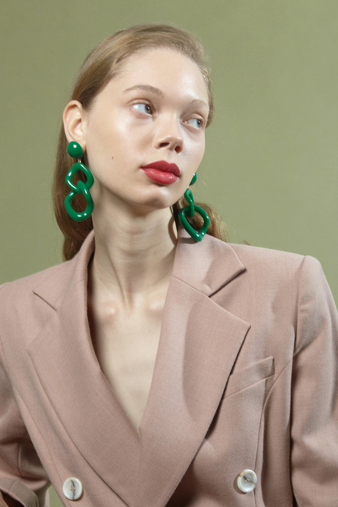 Tamara Earrings in Green