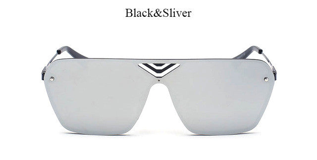 Rimless Square Mirror Sunglasses