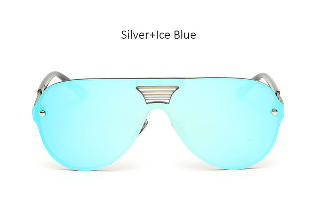 Colored Mirror Aviator Sun Glasses