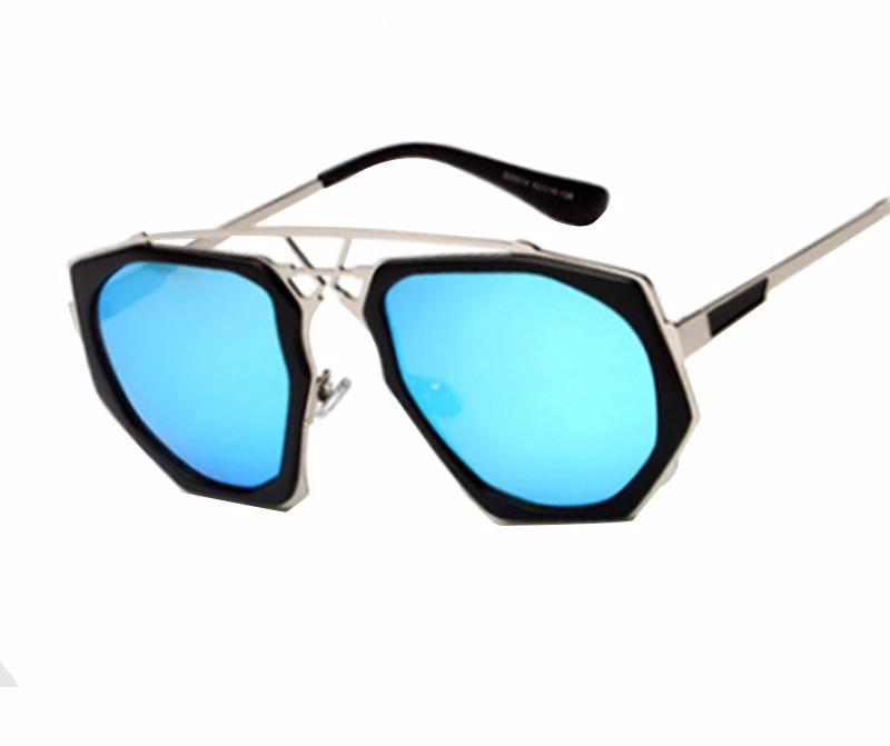 Vintage Colored Octagon Steampunk Sunglasses