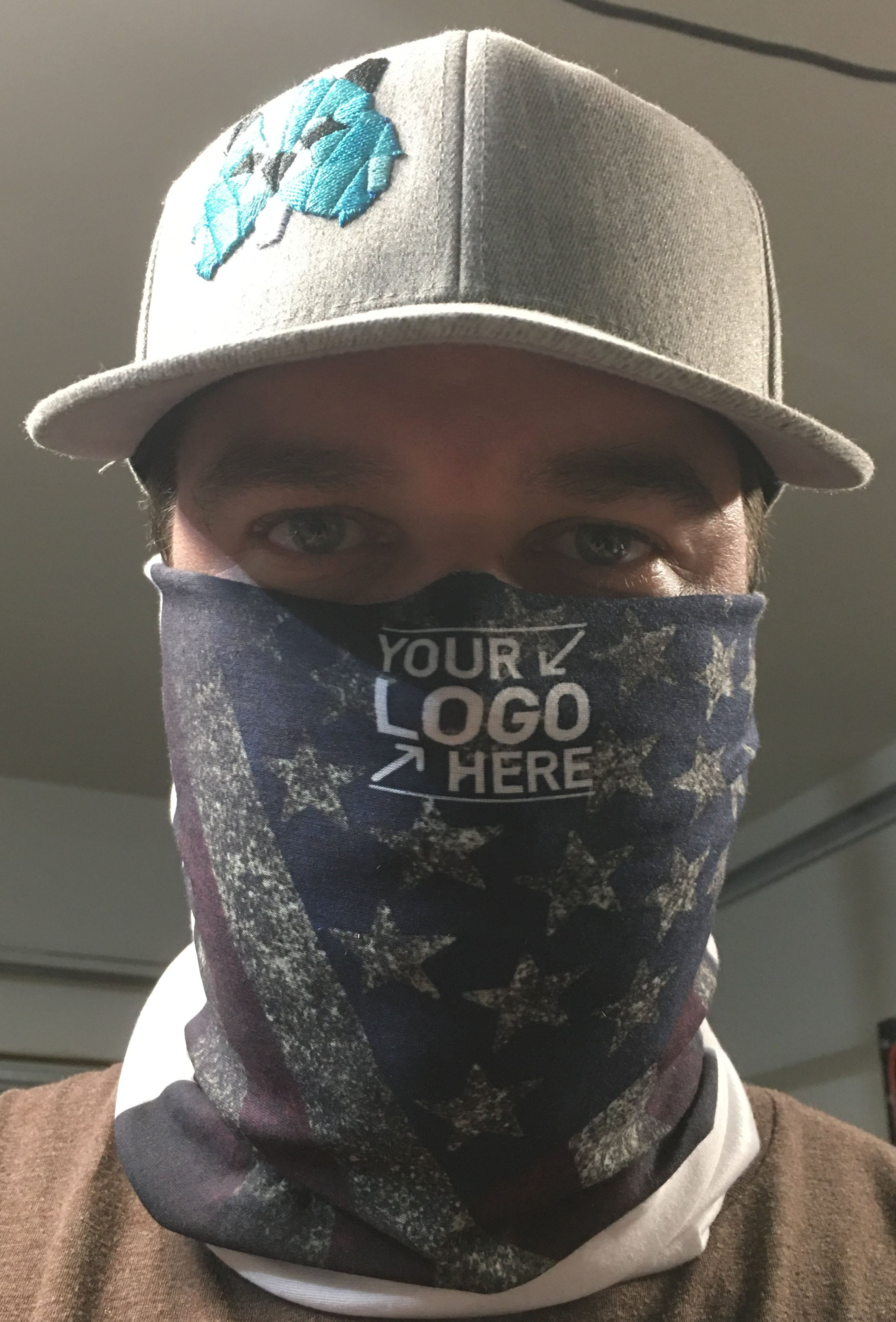 CUSTOM In Stock Vapor Face Mask / Neck Gaiter - With your Design or logo!  Washable