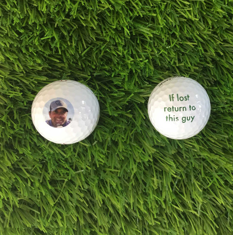 Custom Photo Golf Balls and Golf Towel SET -  No personalization fee!  Great gift for the holidays!