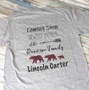 Baby Name Reveal Shirt!  Introduce your baby's name in a fun new way!