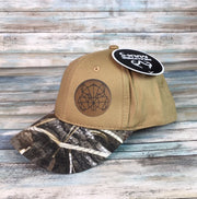 Custom Bass Hat with Leather Patch!  Emboridered Bass included!
