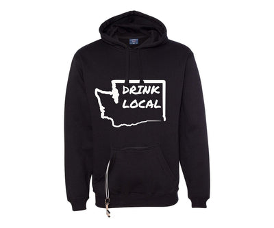 State Drink Local Tailgate Hoodie - With beverage pocket and bottle opener!