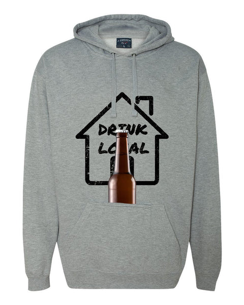 Drink Local Hoodie with built in Koozie and bottle opener!