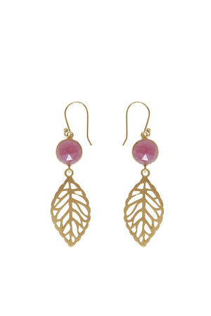 Husk Jewellery Ruby-Leaf ER