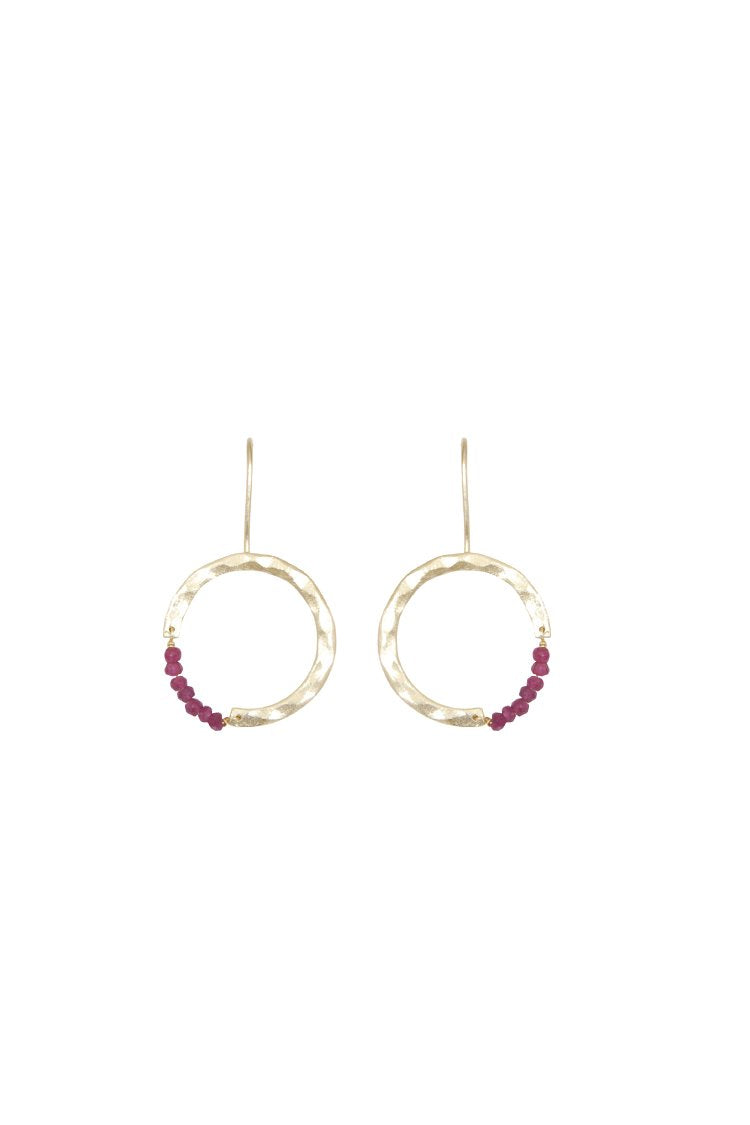 Husk Jewellery Ruby-Hoop ER