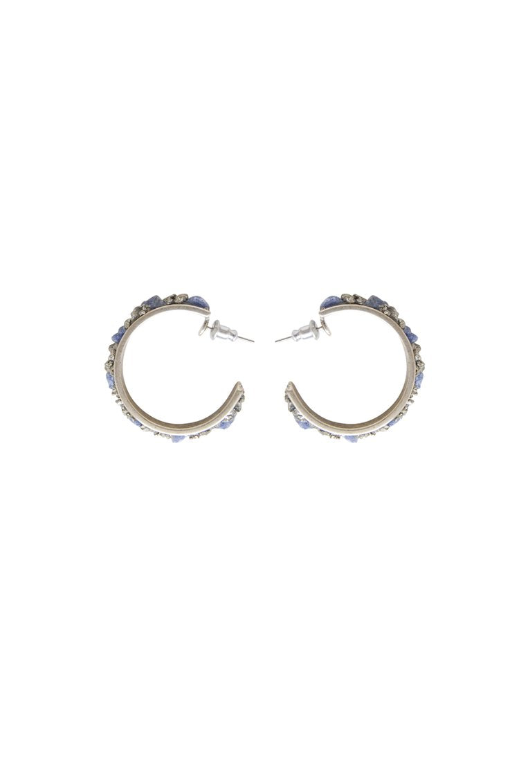 Marly Moretti Hoops-Stones ER