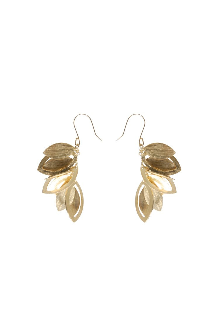 Husk Jewellery Brass Leaf