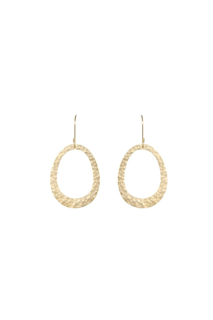 Husk Jewellery Brass Oval