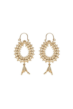 Husk Jewellery Gold-Teardrop Earrings