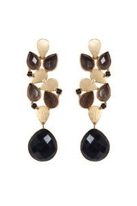 Elle Gemz Black-Blossom Earrings