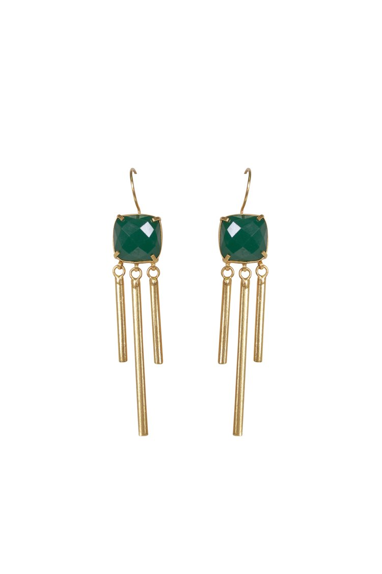 Elle Gemz Green-Chime Earrings