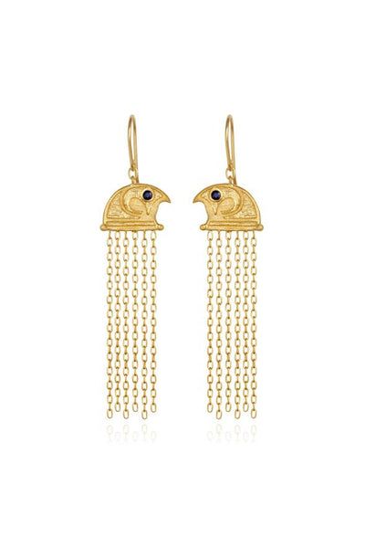 Temple Of The Sun Falcon Earrings