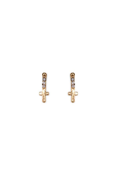 Marly Moretti ZIRCONE-CROSS EARRING