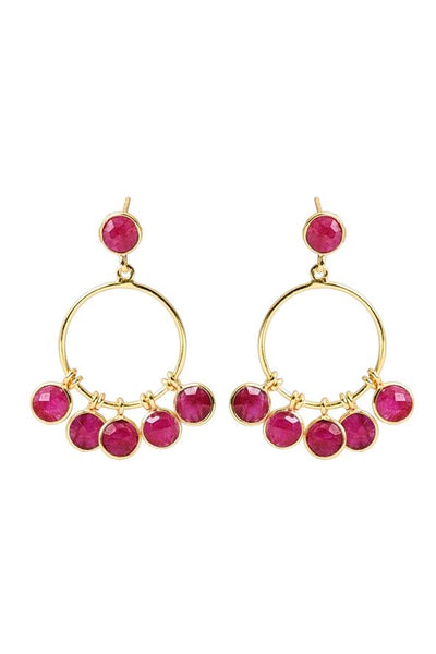 Husk Ruby Earrings