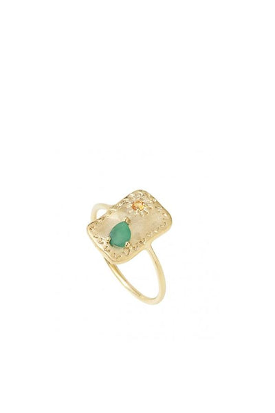 Louise Hendricks Farah Ring - Gold