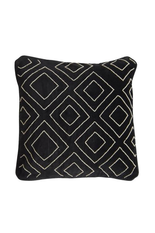 Husk Home Black-Velvet Cushion