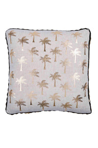 Bonnie & Neil Gold-Palms Cushion