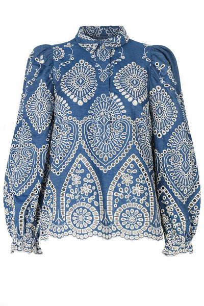 Munthe Think Blouse - Blue