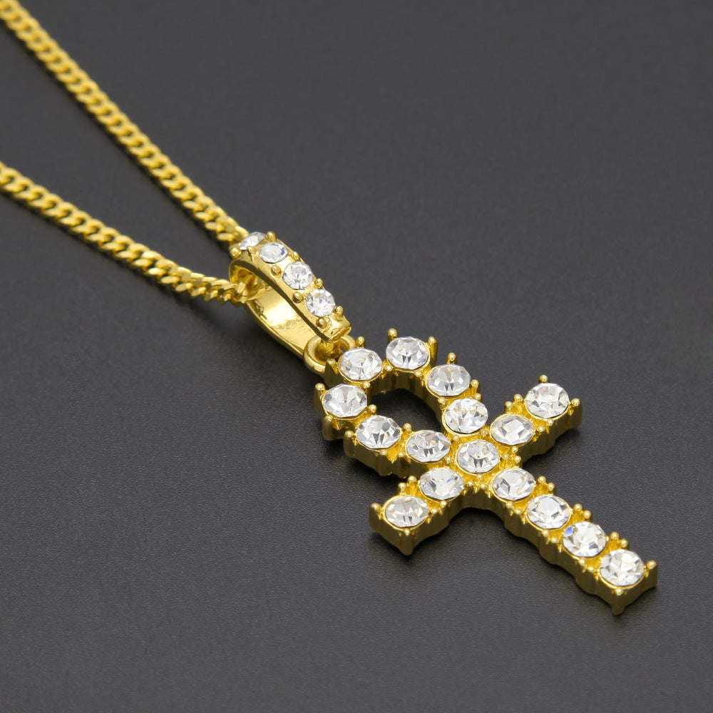 Real Blingy Ankh + Chain