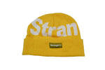 Big NY Spellout Jacquard Knit Beanie Aspen Leaf Yellow