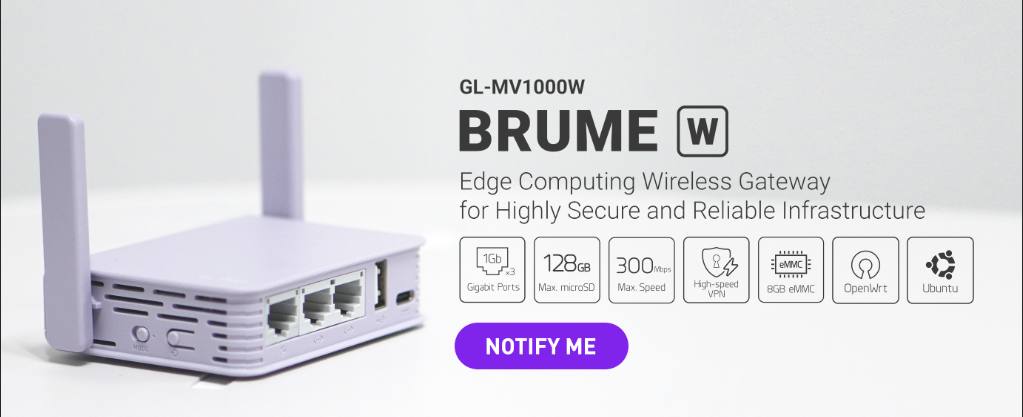 Brume-W (GL-MV1000W) Edge Computing Wireless Gateway is coming soon