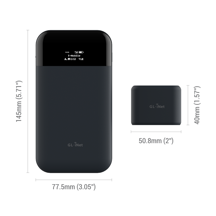 Mudi 4G LTE Portable Router | Travel WiFi | Privacy | Tor (GL-E750) - GL.iNet