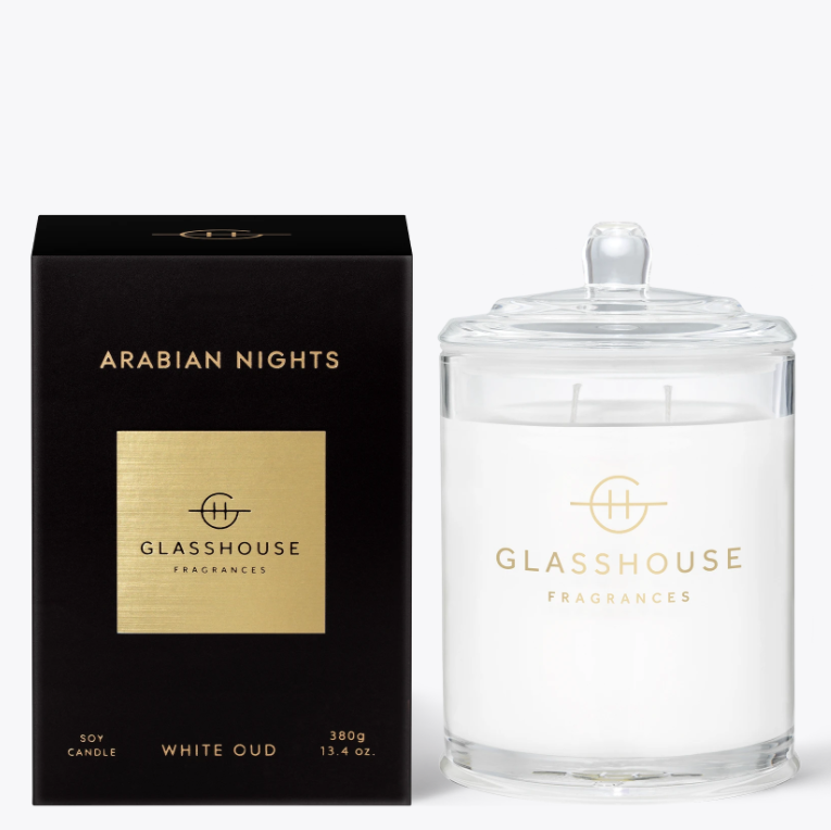 380g Candle - ARABIAN NIGHTS By Glasshouse