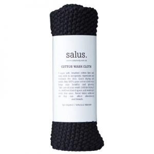 Cotton Wash Cloth - Black