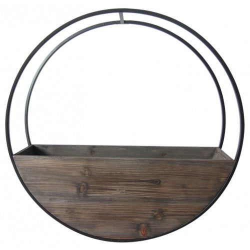 Wooden Wall Planter Full Circle - Large 60cm
