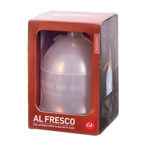 IS GIFT Al Fresco – Collapsible Wine Glass with Case