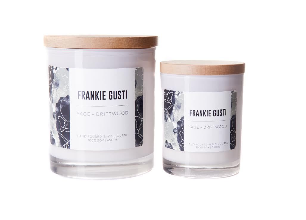 Frankie Gusti Candle - Limited Edition - Sage and Driftwood