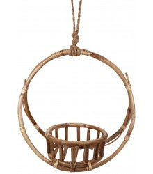Round Cane Pot Holder Basket 32cm