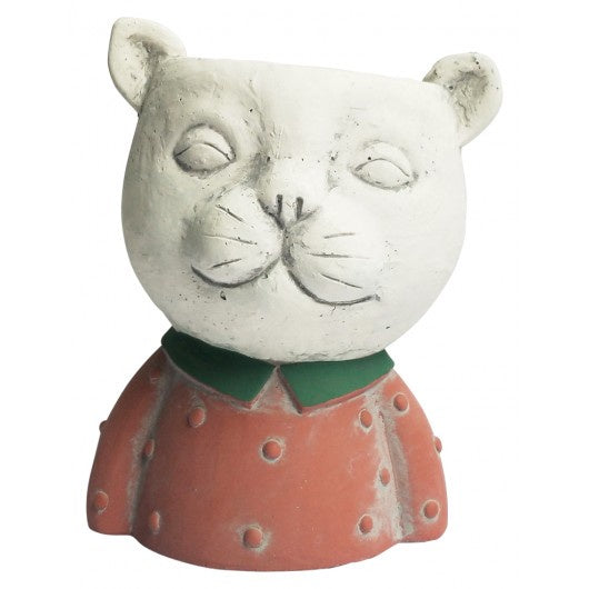 Cat Planter Red